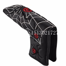 New Spider with Silver Web Golf Putter Cover Headcover for Blade Golf Putter Red White Black Head Cover Free Shipping(China)