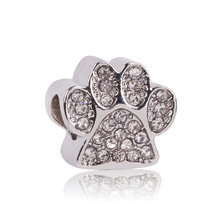 925 Silver Bead Paw/Fairytale Treasure/Opulent Heart Charm Fit Original Pandora Charms Bracelet DIY Accessories Jewelry