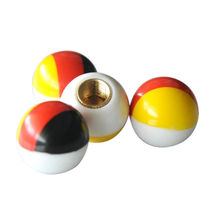 BBQ@FUKA 4PCS German Flag Ball Shape Car Tyre Tire Wheel Stem Air Valve Dust Cap Covers for audi A4 Q7 a3 a5 a6l a8 opel