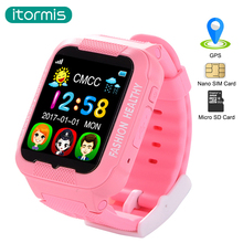 2017 New Arrival itomis W03 Kids Bluetooth Smartwatch children GPS LBS AGPS smart baby watch support SIM TF card for IOS(China)