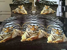 Chinese national treasure tiger 100% cotton bed set bedding set king size bedcover 3d bedding set luxury Duvet/quilt cover sets