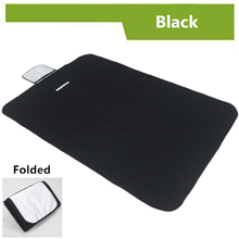 "59"" Multifuctional Oxford & PVC Mat Solid Black Picnic Outdoor Camping Mat For Beach Yoga Breaking Waterproof Customize Placemat"