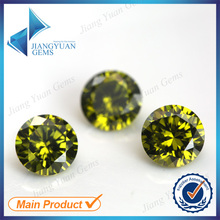 50pcs 5A 0.8-6.0mm Black Olive Color Loose Cubic Zirconia CZ Stone Round Shape European Machine Cut Synthetic Gemstone