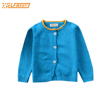 2017 New Leisure Fashion Sweater Cardigan Children Infant 100% Cotton Long Sleeve Candy Color Coat  Kids Single-Breasted Jacke