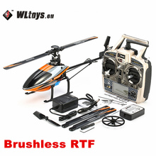 Original WLtoys V950 2.4G 6CH 3D6G System Brushless Flybarless RC Helicopter RTF 3D 6G Mode With Charger Adapter Accessories Bag(China)