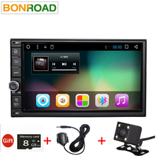 "Bonroad7""2Din Android 6 Android 7 Car Tap PC Tablet 2 din Universal For Nissan GPS Navigation Radio Stereo Video Player(No DVD)(China)"