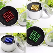 Christmas gift 5mm 216pcs Magnetic Neodymium Magic Cube Bucky Puzzle Magcube Balls Blocks Neo Cube Toys with Metal Box