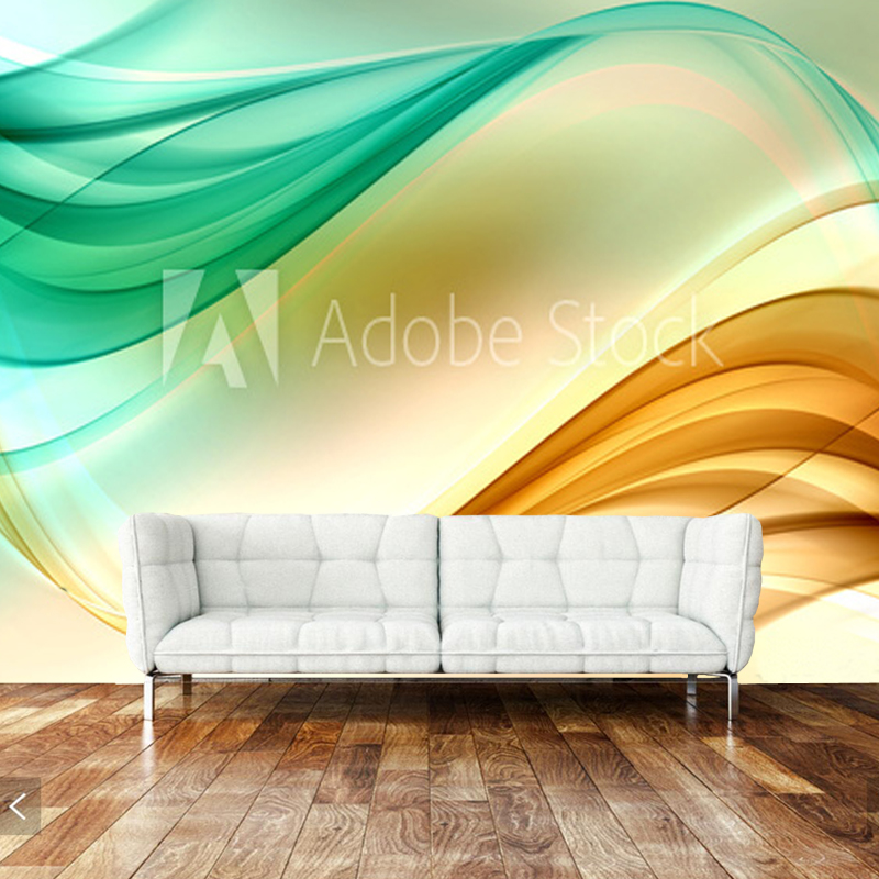 Abstract wallpaper,Gold Green Lines Design,murals for living rooms sofas bedrooms background walls PVC papel de parede <br>