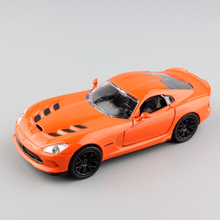 1:32 Scale brand mini 2014 Dodge SRT Viper sport diecast race car Collectible pull back metal model toy collection for baby boys