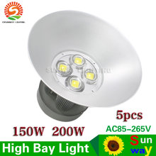 LED High Bay Light 150W 200W Industrial Lamp For Factory Warehouse Workshop Warranty 3 Years AC85-265V CE RoHS