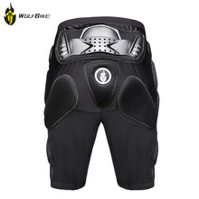 WOLF BIKE Racing Hockey Pants Armor Leggings Pants Knight Brace Armor Off-road Motorcycle Shorts Motorcycle Protective Gear(China)