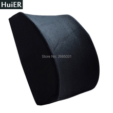 New Memory Foam Lumbar Back Support Cushion Massage Waist Car Pillow Seat Cushion for Office Home Car Auto Seat Chair Car-covers