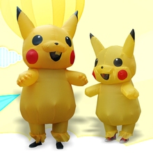 Christmas Pokemon Pikachu Inflatable Costume Adult Large Mascot Cosplay Spirit Dress Pikachu Halloween Costumes Women Men
