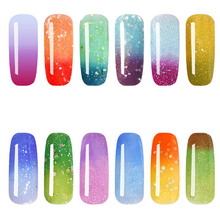 Nail Gel Polish Simple UV Gel polish Hot Sale Gradient Color Change Grateful Special Nail Art 10ml Funny(China)