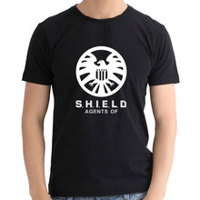 2016 Movie Agents Of Shield man T shirt Casual Fashion Summer cotton lycra Style TOP Tees Shirts For Men