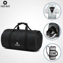 OZUKO многофункциональная мужская дорожная сумка большой емкости водонепроницаемая Спортивная Сумка костюм для хранения ручной сумки багаж ...
