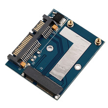 "New Hot Mini PCI-e MSATA To 2.5"" SATA Adapter Converter Card Module Blue Board Wholesale"