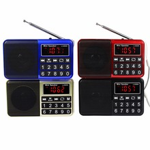 Pocket Radio Digital FM/AM/SW Radio Music Player Multimedia Speaker Flashlight TF card / USB Disk Radio Station 4 Colors Y4199