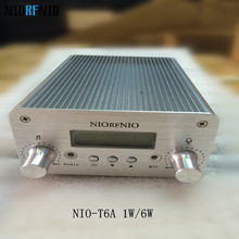 Free Shipping NIOFRNIO NIO-T6A 1w/6w Mini Power Transmitter Stereo PLL Mini Radio Station Broadcast with LCD display
