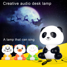 Hot Portable Multifunction Cartoon Cute USB Speaker LED Night Lamp for Baby Kids Children GDeals