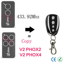 copy V2 PHOX2,V2 PHOX4 433.92mhz Rolling code remote control with battery