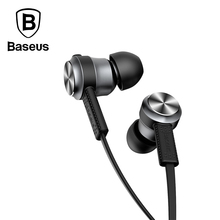 Baseus In-Ear Stereo Earphone For iPhone 5 6S Samsung 3.5mm Aux jack Sport earbuds For Xiaomi iPad MP3 MP4 HiFi Music Headset(China)