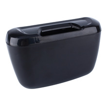 Auto Car Car Environment Easy hanging Cargo Trash Can mini garbage bin Storage Holder Box Vehicle Container Black