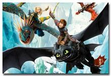 NICOLESHENTING How To Train Your Dragon 2 Movie Art Silk Poster 12x18 32x48 Hiccup Toothless Pictures Bedroom Living Room  021