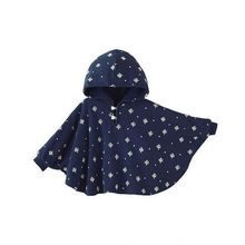 Long Sleeve 95% Cotton Hooded Cloak Jacket Kids Baby Child Cape Coat
