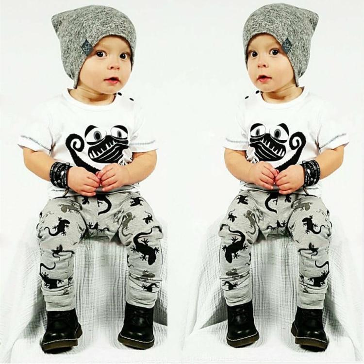 INS 2016 cool baby boy clothes set cotton Fashion letters printed T-shirt+pants 2pcs Infant clothes newborn baby clothing set<br><br>Aliexpress