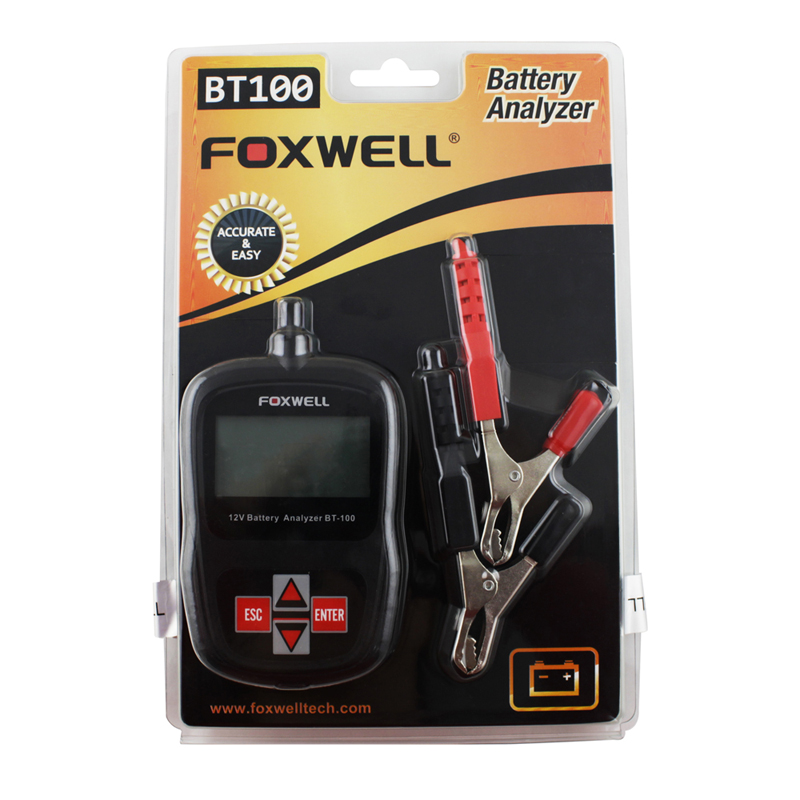 5pcs a lot Super Oringinal Foxwell BT-100 BT100 Battery Tester With Portable Design Directly Detect Bad Cell Battery<br><br>Aliexpress