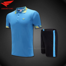 Free Shipping men badminton jersey polo t shirt quick drying table tennis shirt sets breathable uniforms outdoor men sportwear