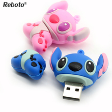 HOT Lovely Cartoon Lilo & Stitch USB Flash Drive 64GB 32GB 16GB 8GB 4GB Pen Drive memory stick pendrive thumbdrive mini gift(China)