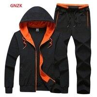 New 2017 Spring Hood Sweatshirt Sports Set Men Brand Men's Sports Suits Men Sportswear Jacket + Pants Free shipping WN 108