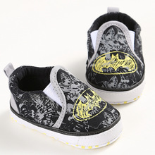 HONGTEYA Batman infant Shoes Cool Canvas Newborn Baby Boys Kids First Walkers Loafers Crib Bebe Children Soft Soled Baby Shoes