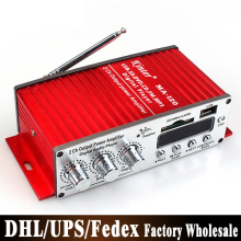 DHL Fedex 20pcs/lot USB MP3 Digital Player DC12V Mini Car Motorcycle Audio Amplifier Stereo(China)