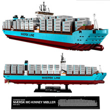 Lepin 22002 1518Pcs Technic Series The Maersk Cargo Container Ship Set Educational Building Blocks Bricks Model Toys Gift 10241