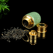 Tea Caddy Box Porcelain Sealed Cans Of Food Dried Fruit Metal Cover Longquan Celadon Kung Fu Tea Accessories(China)