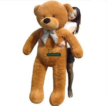 Dorimytrader 5.9 FEET Huge Plush Life Size Brown Bear Doll 180cm Jumbo Teddy Bear Toy Nice Baby Present Free Shipping DY61048