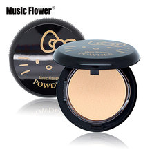 Hot Face Makeup Brand Music Flower HELLO KITTY Cosmetics Pressed Powder Facial Powder Foundation Whitening Concealer Make Up