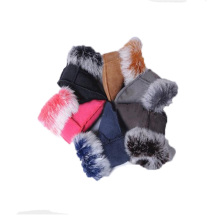 2016 1-3 Years Baby Fur Boots Kids Warm Oddler Shoes Boots Sheepskin Flat Soft Bottom Plush Snow Boot Newborns Rabbit Ankle