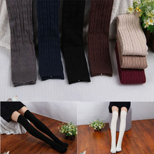1 Pair Fashion Women Over Knee socks Stockings Thigh Pantyhose 8 Colors 55 cm long High Quality(China)