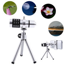 Buy ZEALLION Universal 12X Zoom Camera Telephoto Telescope Lens + Mount Tripod Kit iPhone Xiaomi Samsung Huawei HTC for $20.52 in AliExpress store
