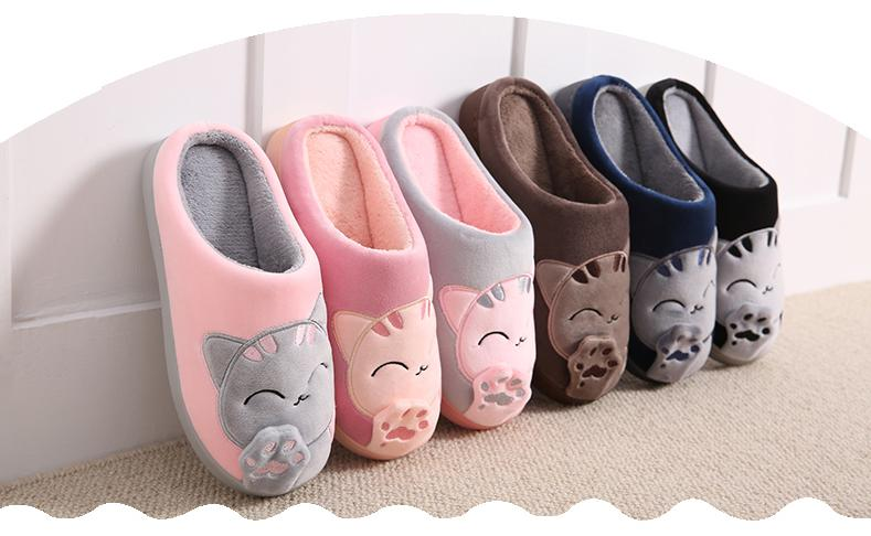 CUTE COZY CAT PAW SLIPPERS 3