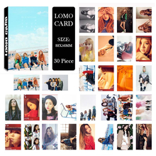 Youpop KPOP BLACKPINK LISA ROSE Album LOMO Cards K-POP New Fashion Self Made Paper Photo Card HD Photocard LK447