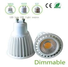 Hot selling factory price CE RoHS White  Aluminium Shell MR16  E27 7w COB GU10  LED spotlight