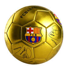 FCB Shinning Size 4 Football 2017 PU Leather Soccer Ball For Kids Sports Training Equipment High Quality Football Ball