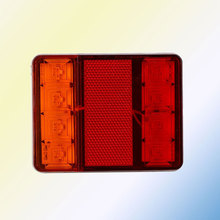 Car Truck Rear Tail Lights 8 LED Rear Light Warning Lamp 2Pcs Waterproof Tailights Rear Parts for Trailer Truck Boat DC 12V