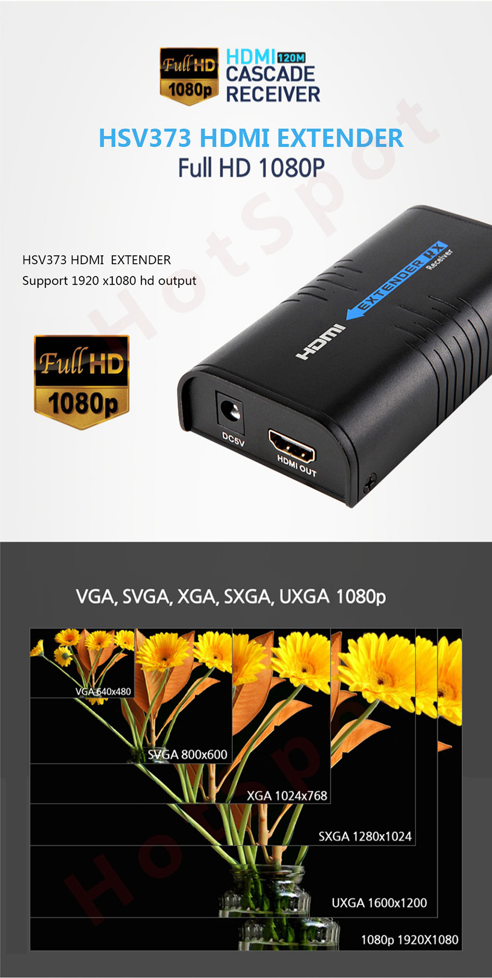 MiraBox HDMI Extender Transmitter and Receiver Over IP TCP UTP like HDMI splitter No Latency Lossless 1080P HDMI cat5 Extender (6)