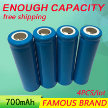 Golooloo Li-ion 14500 3.7V 4 PCS/lot AA Rechargeable Battery 700mAh Li-ion 600 times electric / remote control toys  batteries